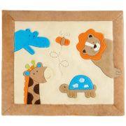 Tapete Grande Emborrachado Retangular Hipopótamo Girafa Abelha Tartaruga Leão