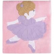 Tapete Grande Emborrachado Retangular Menina Bailarina