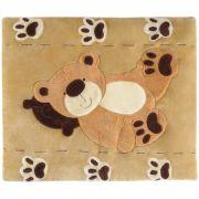 Tapete Grande Emborrachado Urso Travesseiro Patas