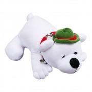 Urso Polar Natal Plush Chapéu Verde Cachecol