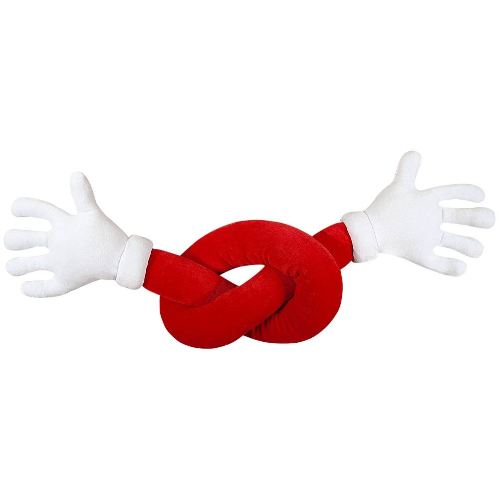 Abraço de Pelúcia Plush Vermelho Maozinhas