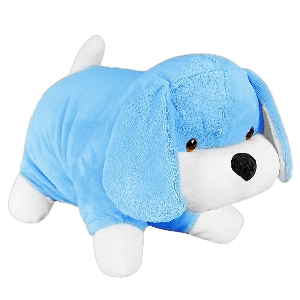 6c7dd087b8 Almofada Cachorrinho Pelúcia Importada Azul - Shopping do Bebê ...