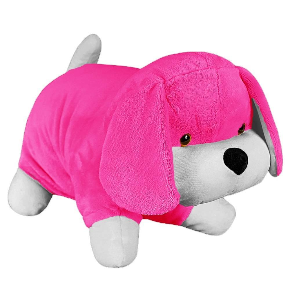 Almofada Cachorrinha Pelúcia Importada Pink