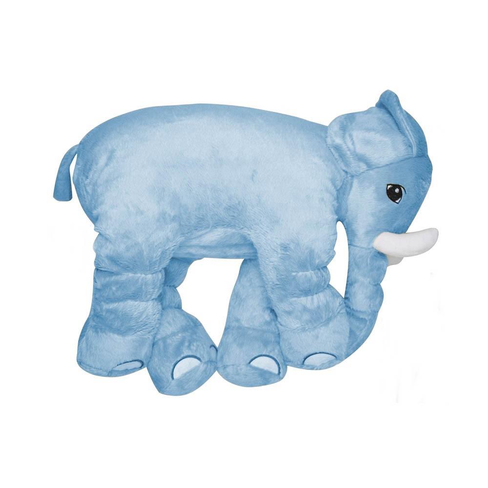 Almofada Elefante de Pelúcia Soft Grande Azul