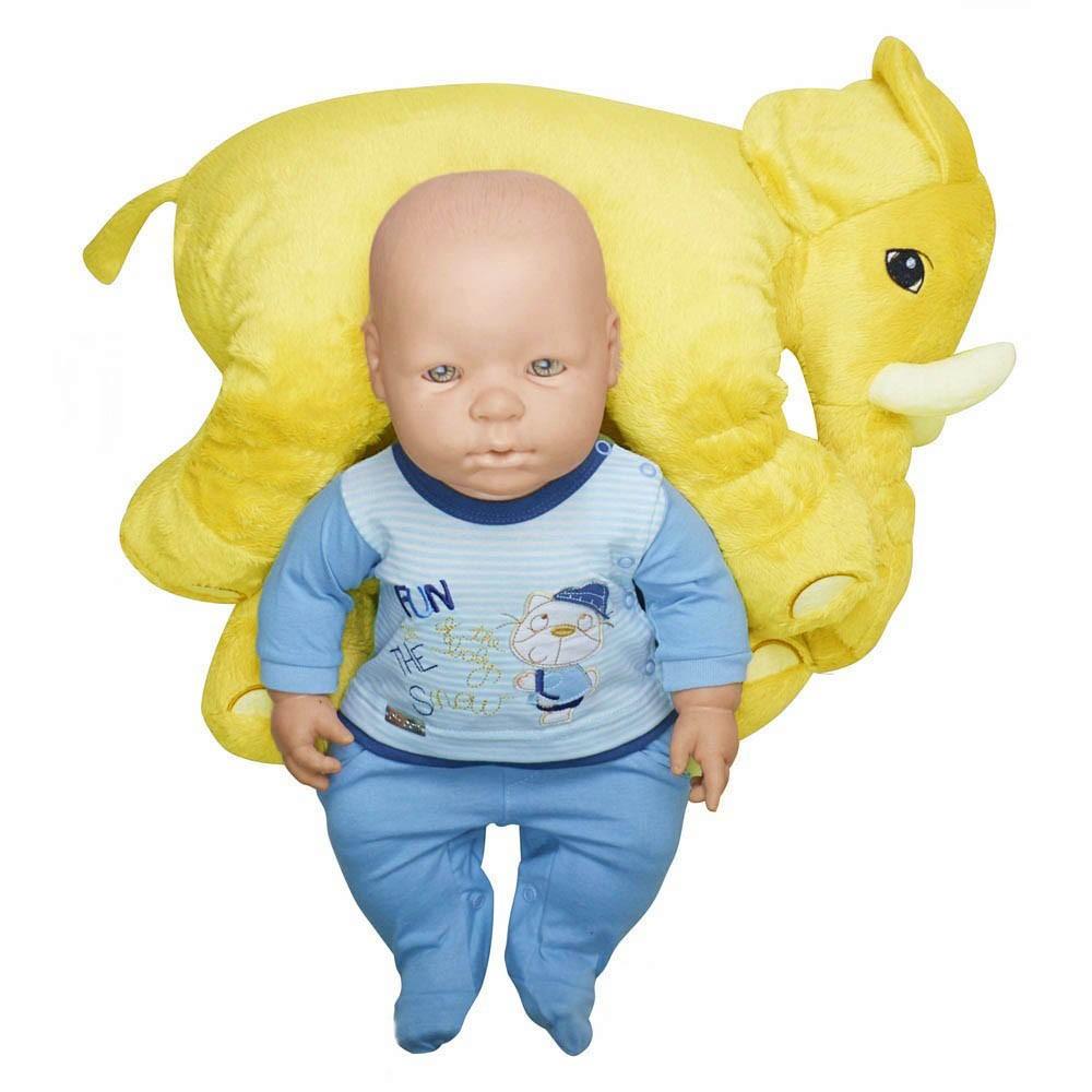 Almofada Elefante de Pelúcia Soft Média Amarela