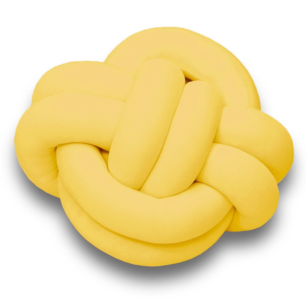 Almofada Nó Escandinavo Hashtag Amarelo