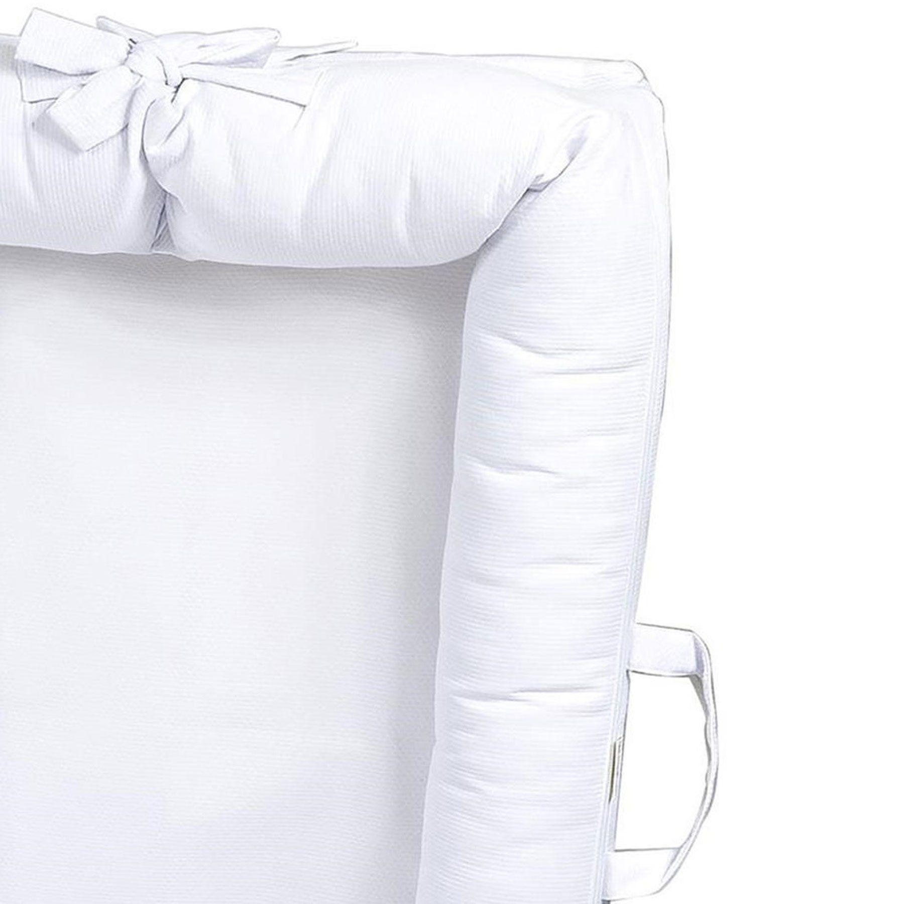 Berço Portátil Ninho Redutor para Bebê Piquet Branco