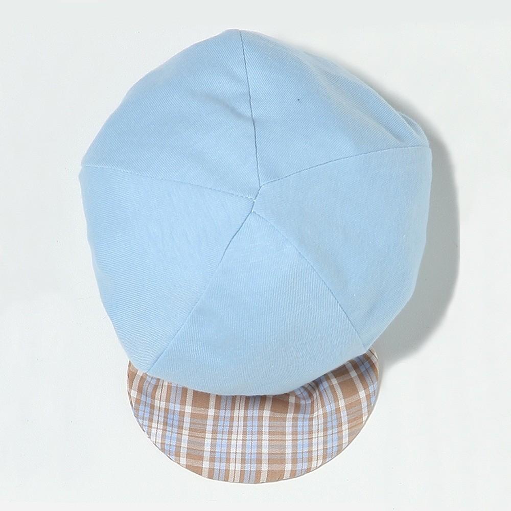 Boné Liso Azul Aba Xadrez