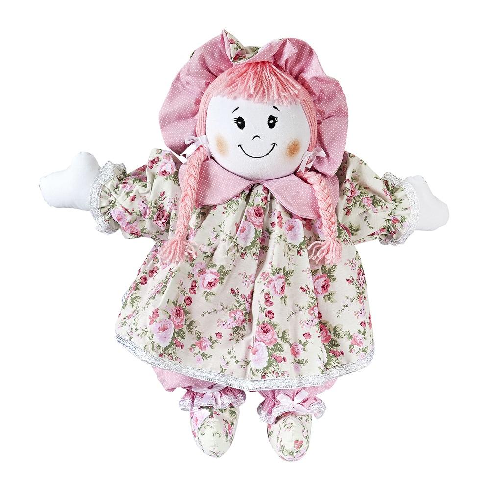 f0bc9bd9607644 Boneca de Pano Vestido Floral