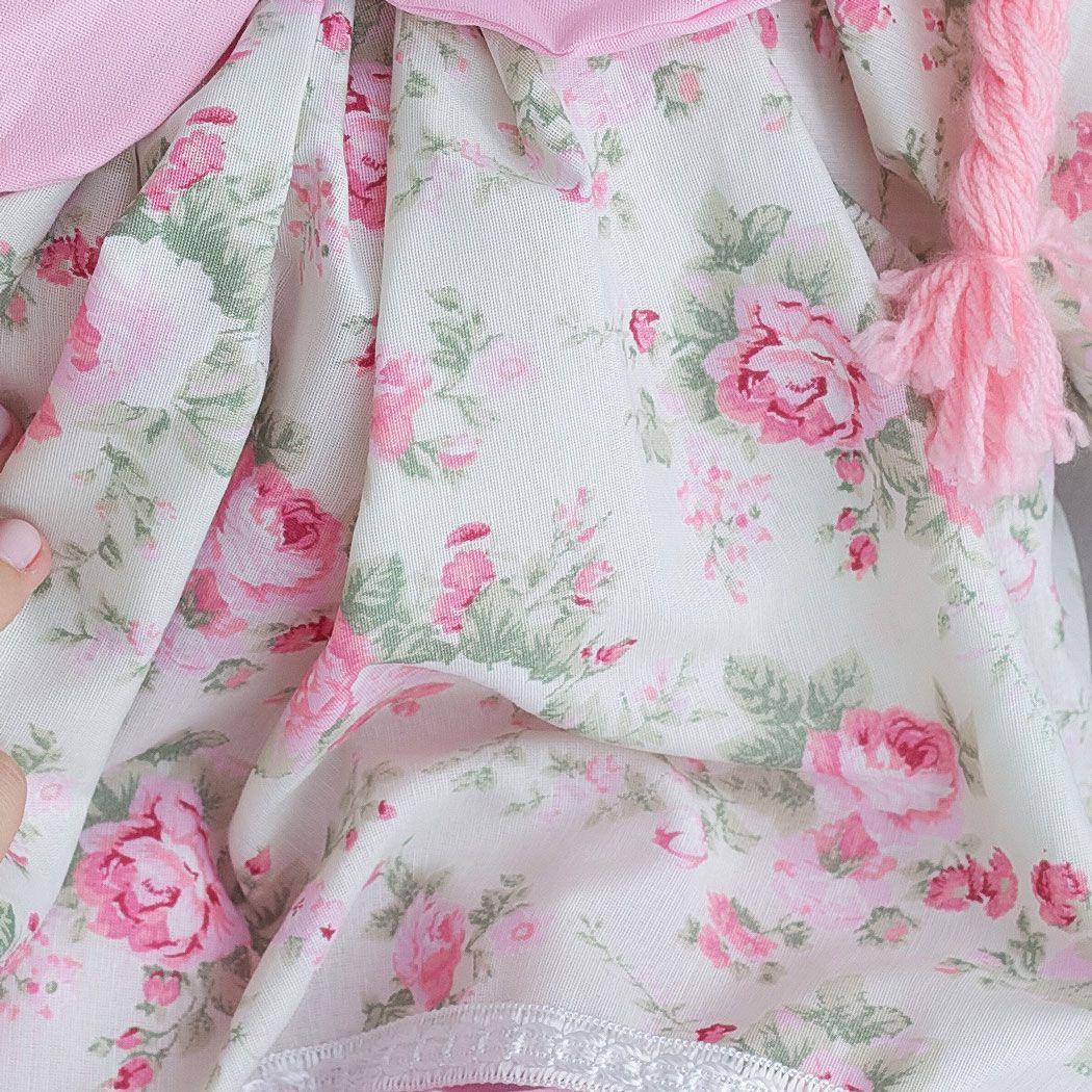 Boneca de Pano Vestido Floral