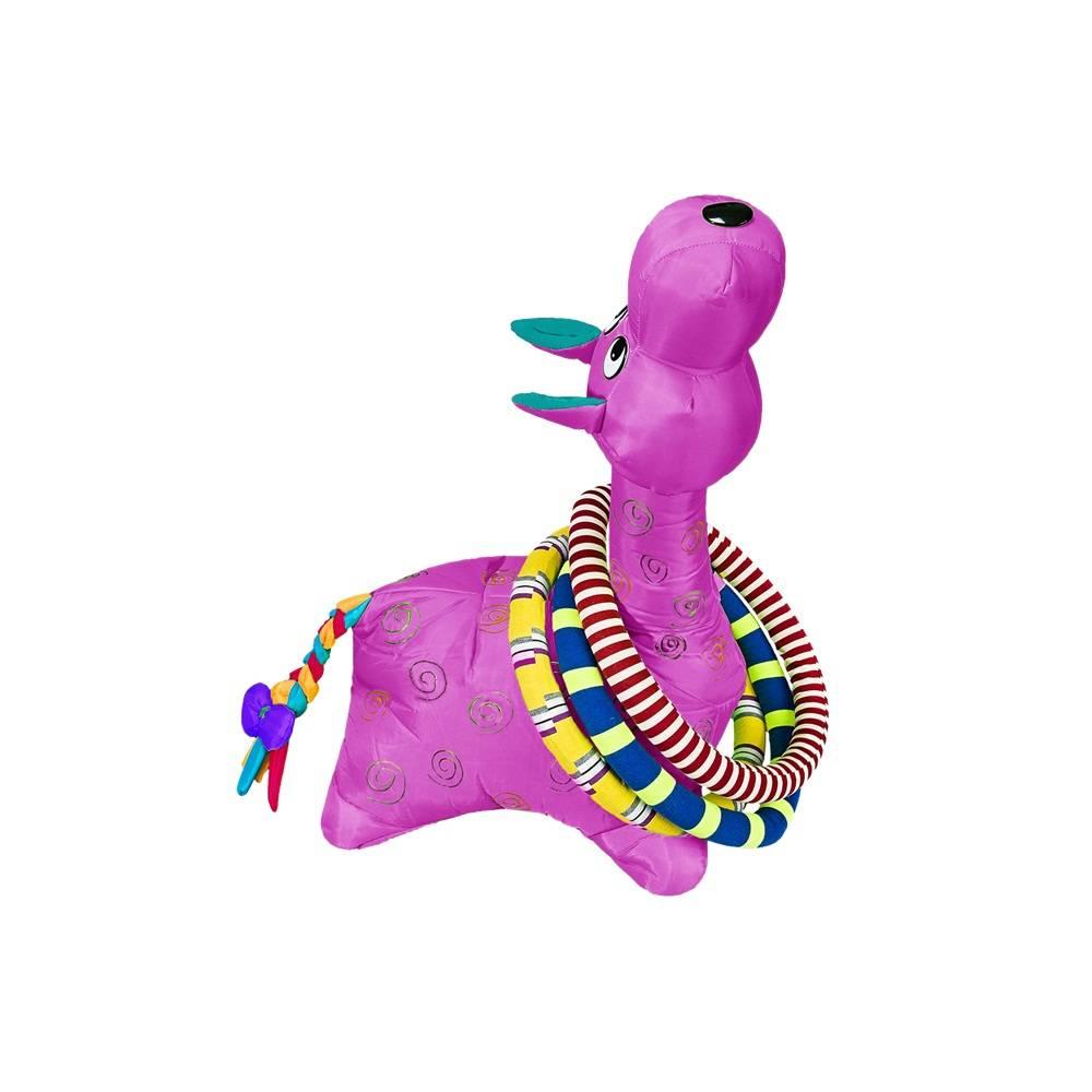 Brinquedo Girafa Argolas Grande Roxa Colorida