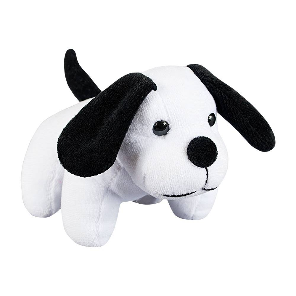 Cachorrinho Plush Mini Branco e Preto