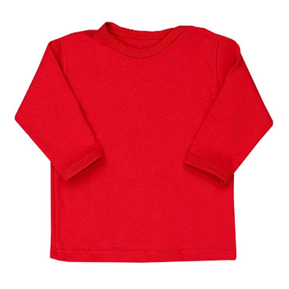 Camiseta Manga Longa Lisa Vermelha