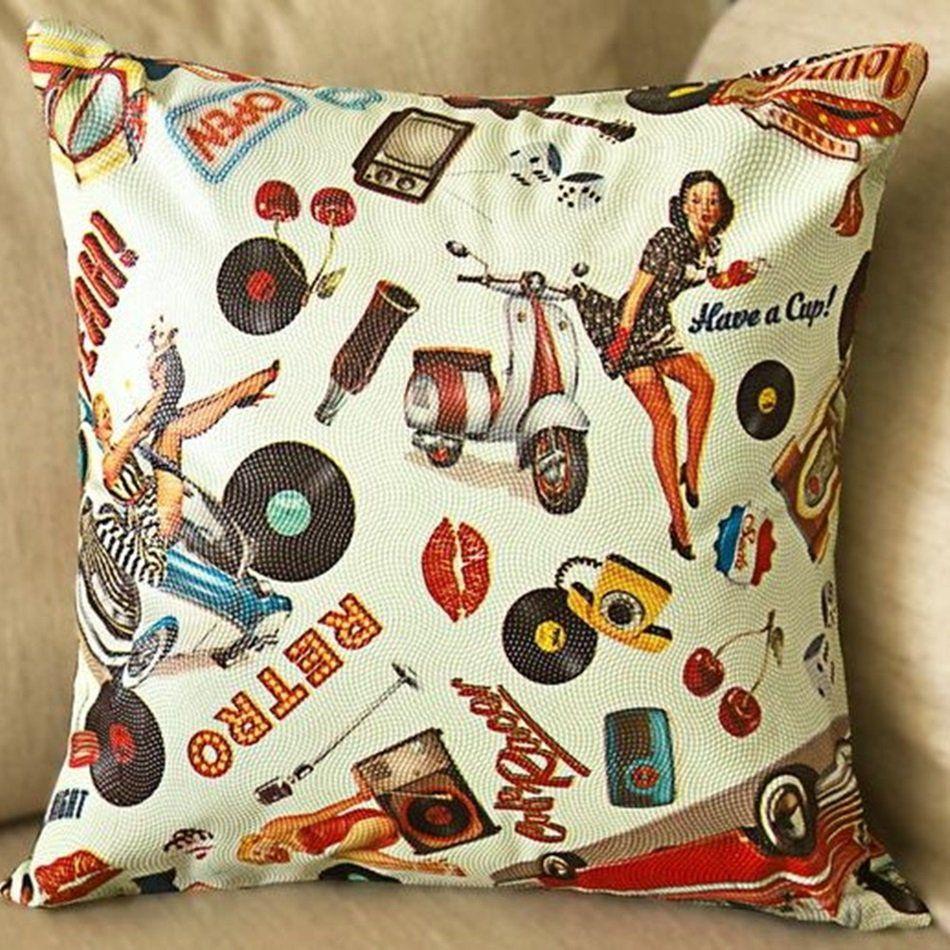 8059d3205 Capa de Almofada Decorativa Corino Impermeável Vintage Retrô Palha com  Zíper - Shopping do Bebê ...