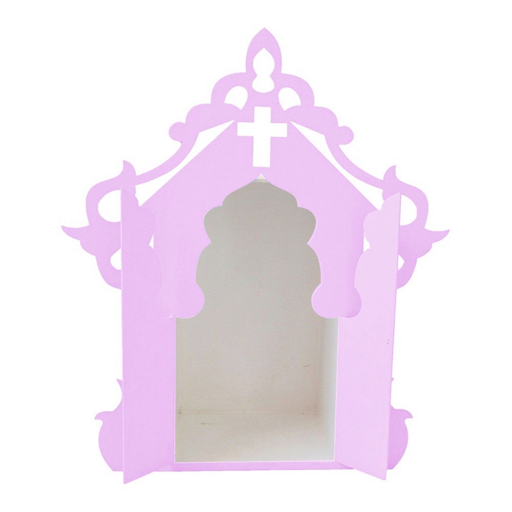Capelinha para Santos Lilás e Branco Mdf