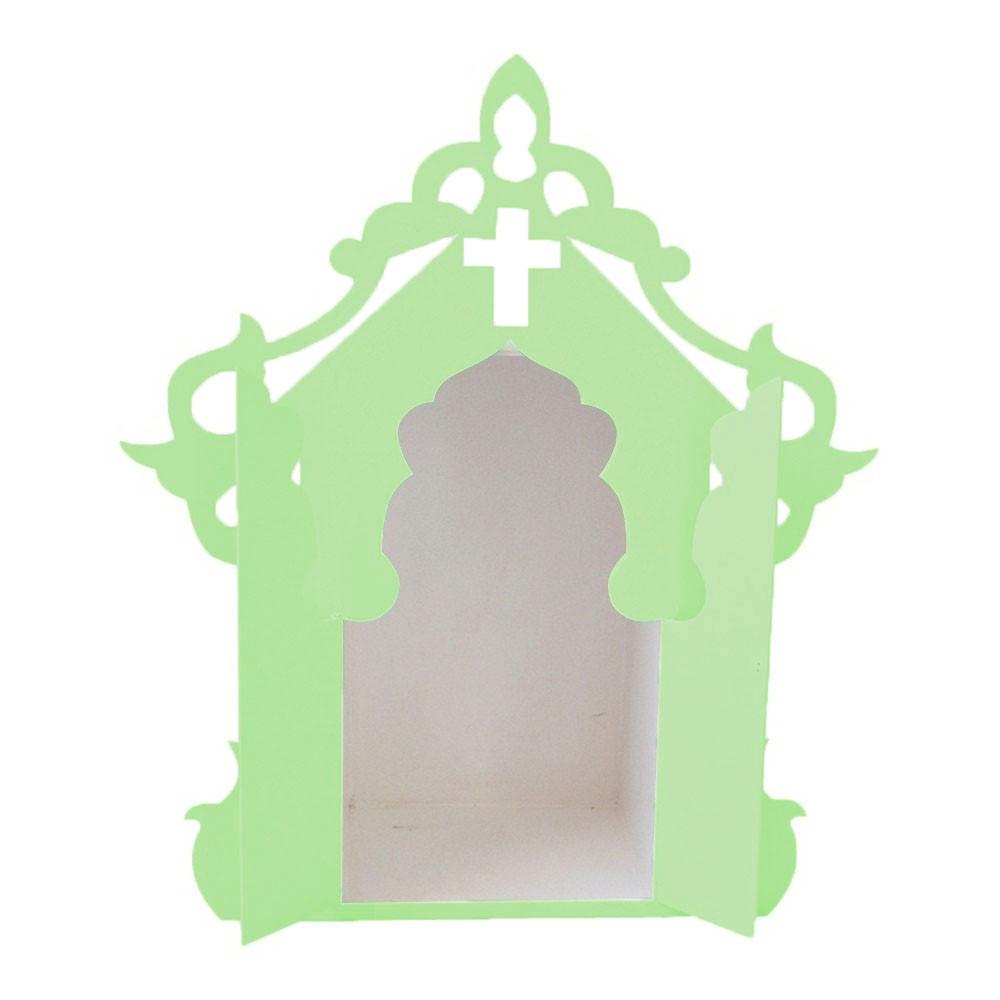 Capelinha para Santos Verde Claro e Branco Mdf