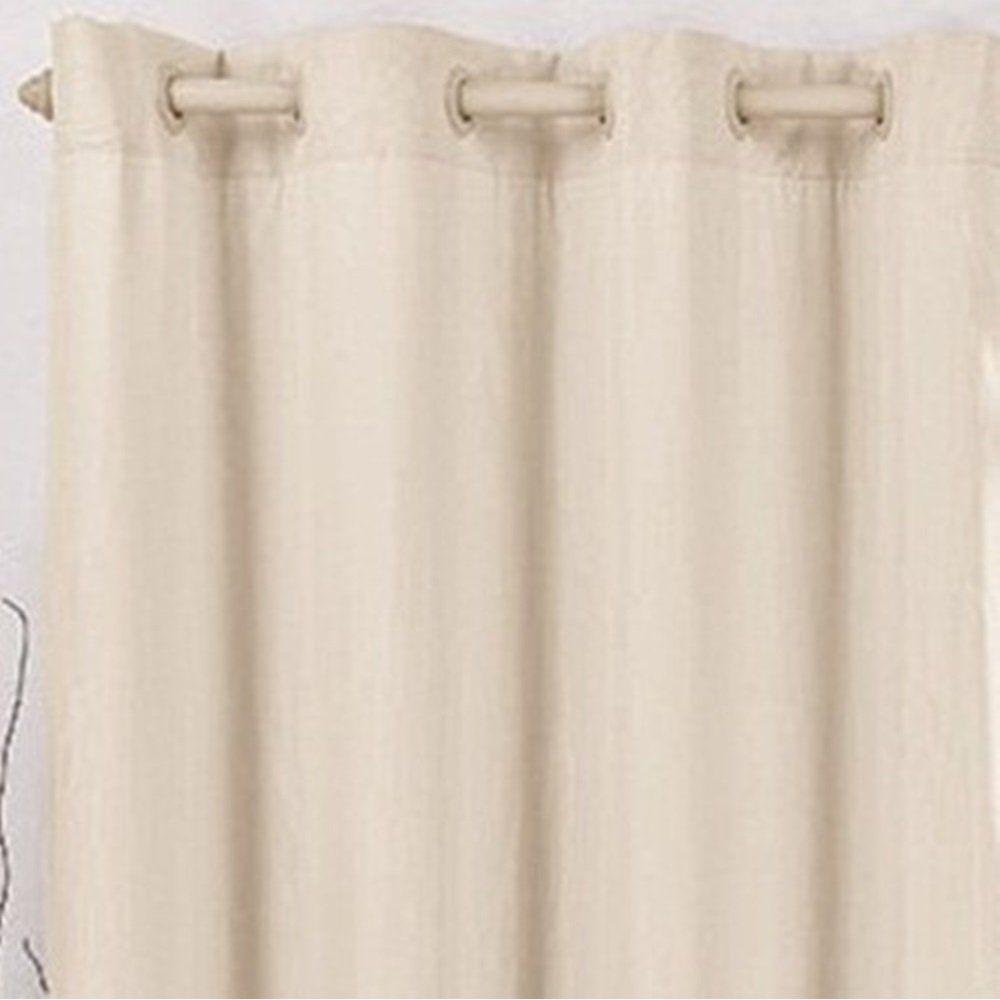 Cortina Blackout Corta Luz PVC com Voil Palha 2,80 x 1,70 para Varão Simples 2,00 Metros