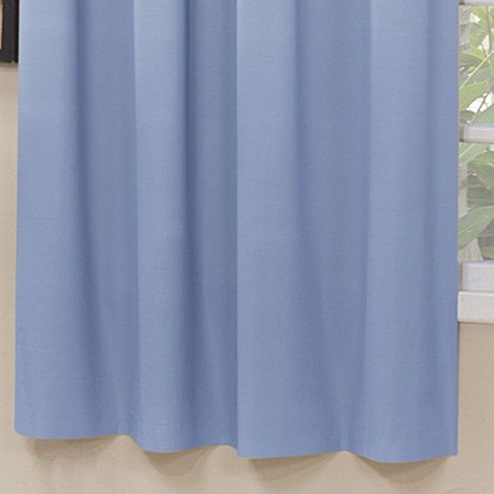 Cortina Blackout Corta Luz PVC (Plástico) Azul 2,80 x 2,50 para Varão Simples 2,00 Metros