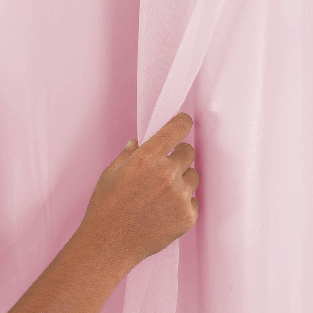 Cortina Blackout Corta Luz PVC Rosa 2,80 x 1,70 para Varão Simples 2,00 Metros