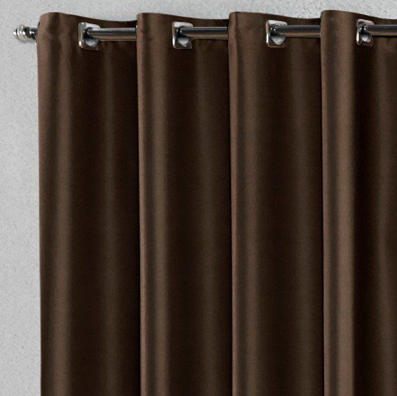 Cortina Blackout Corta Luz Tecido Antialérgico Tabaco 5,80 x 2,70 para Varão Simples 5,00 Metros