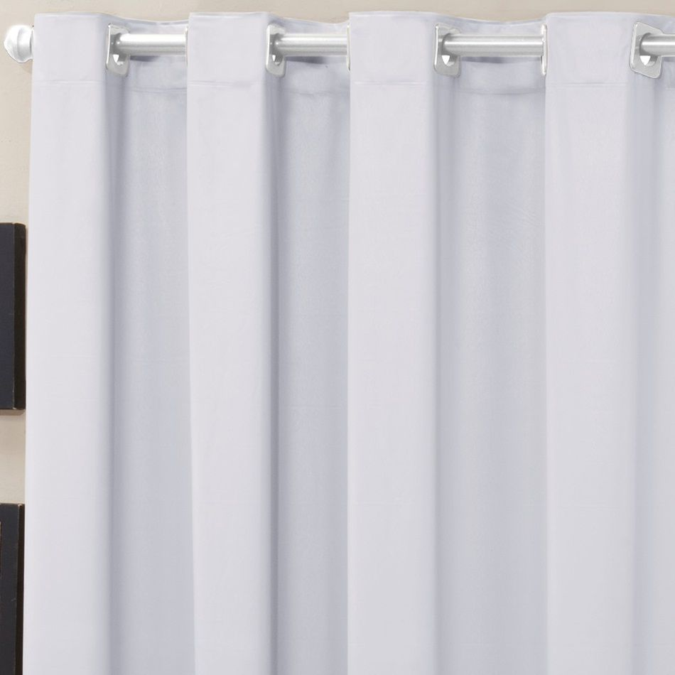 Cortina Blackout Corta Luz PVC (Plástico) Branca 2,80 x 1,60 para Varão Simples 2,00 Metros