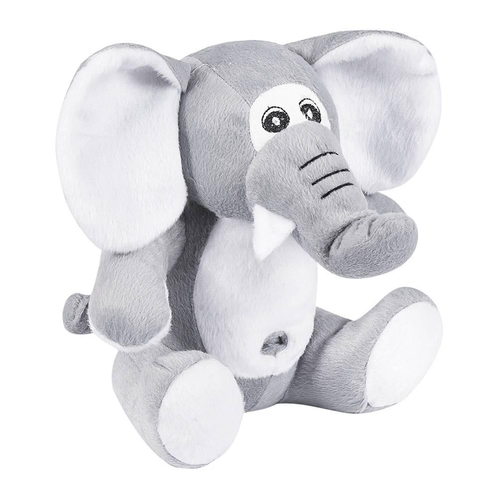 Elefante Pelúcia Importada Médio Cinza Sentado