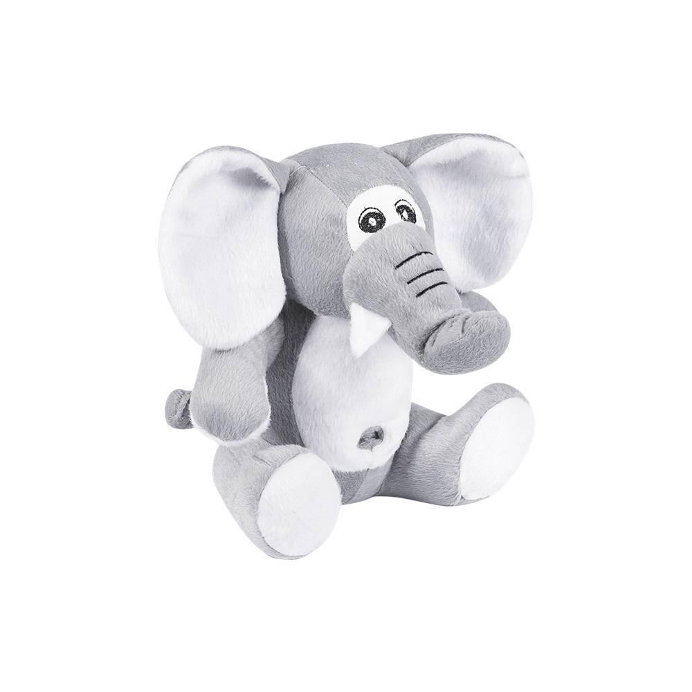 Elefante Pelúcia Importada Pequeno Cinza Sentado