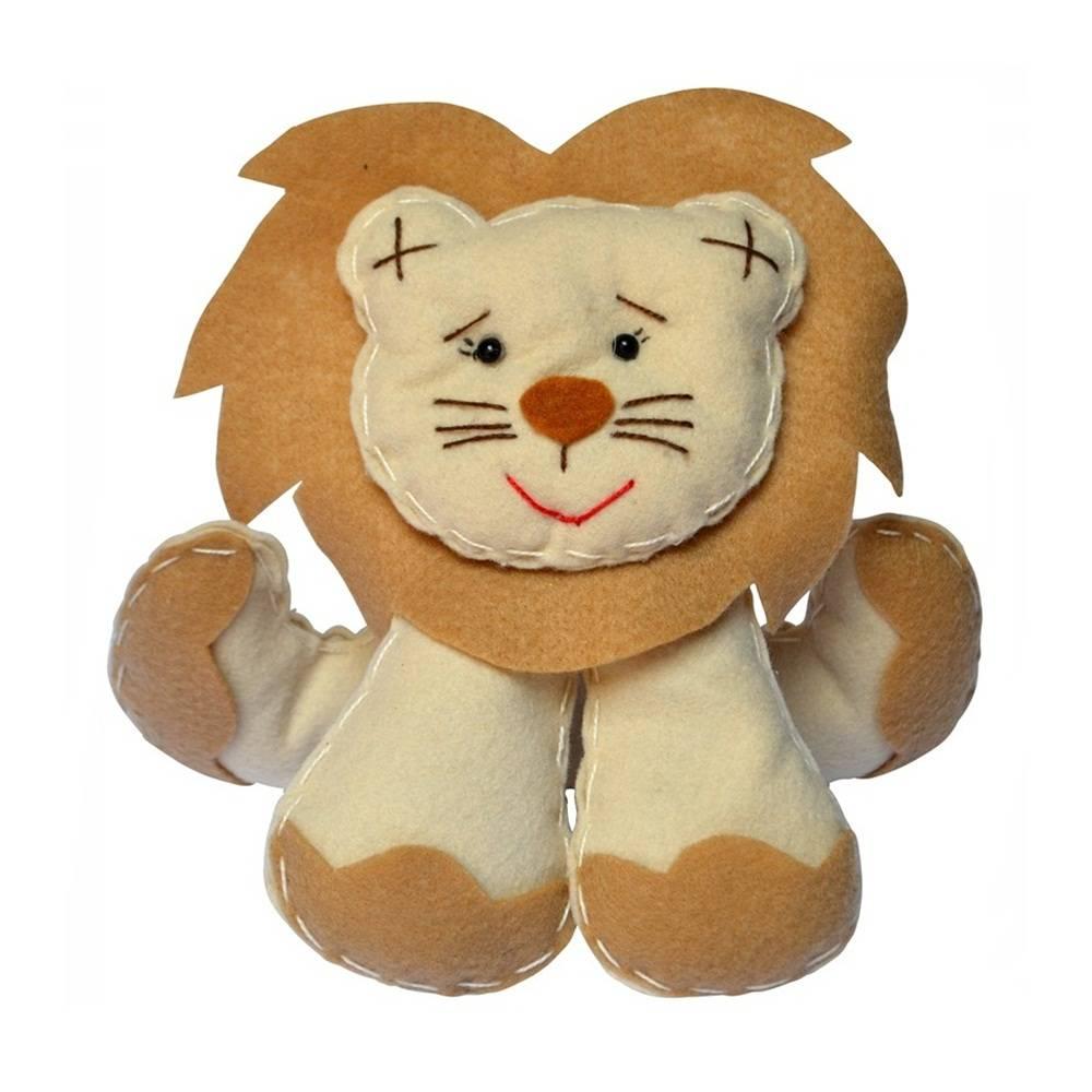 Enfeite Feltro Pequeno Bege Leão