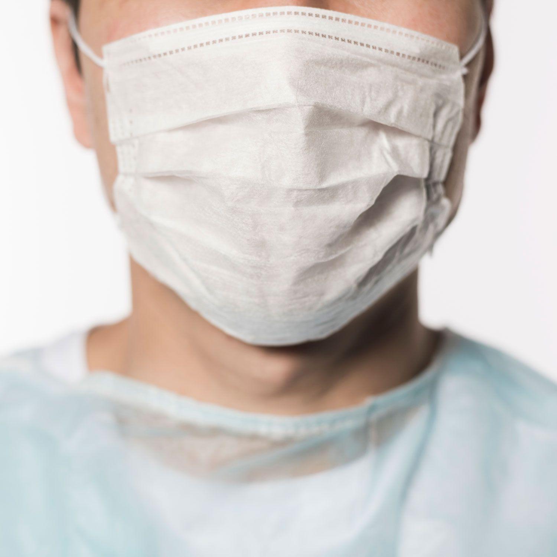 Kit 10 Peças Máscaras Descartáveis Proteção Rosto TNT Gramatura 40 Dupla Branca