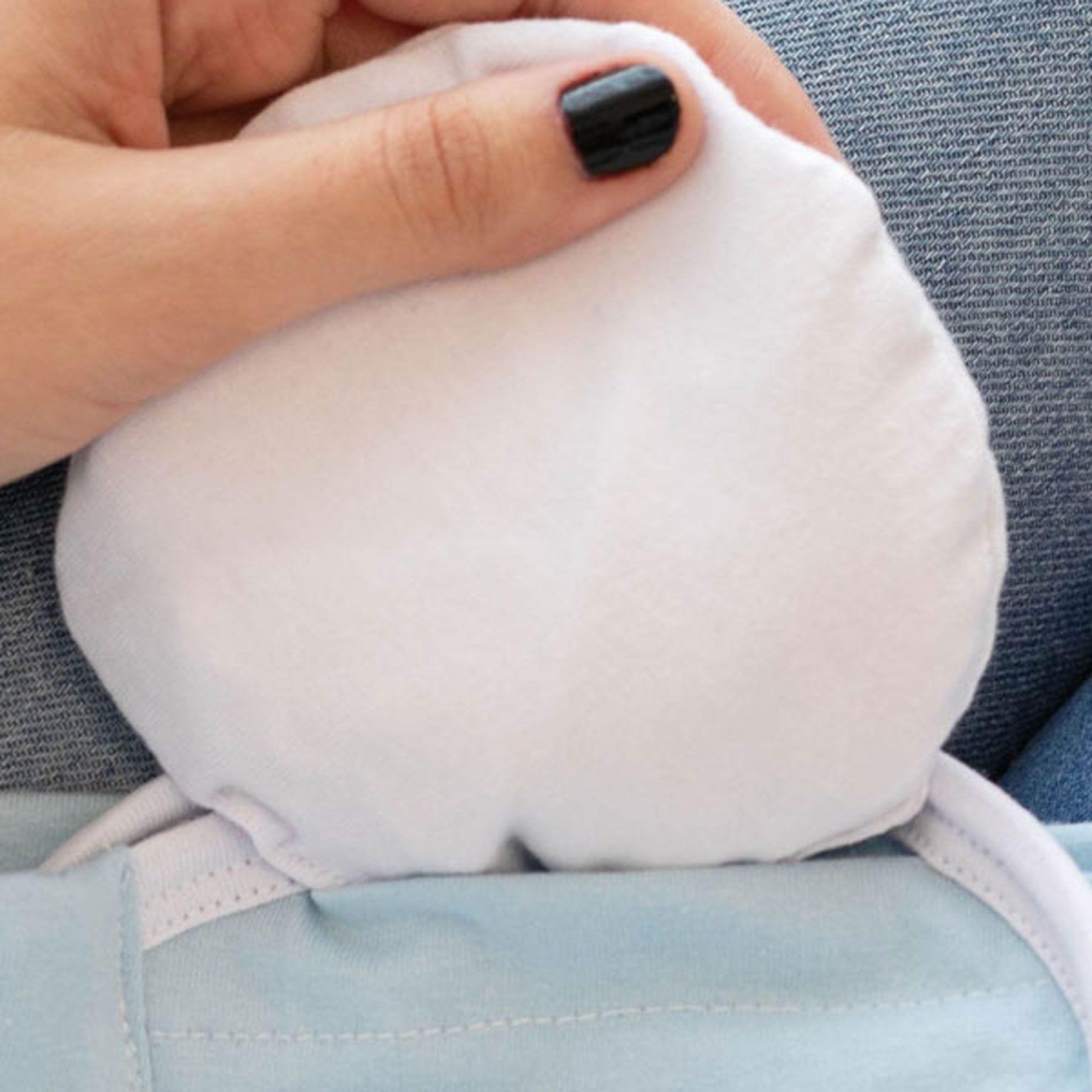 Kit 2 Peças Cinta Ajustável Bebê Azul e Bolsa Térmica Natural para Alívio de Cólica, Gases e Desconfortos