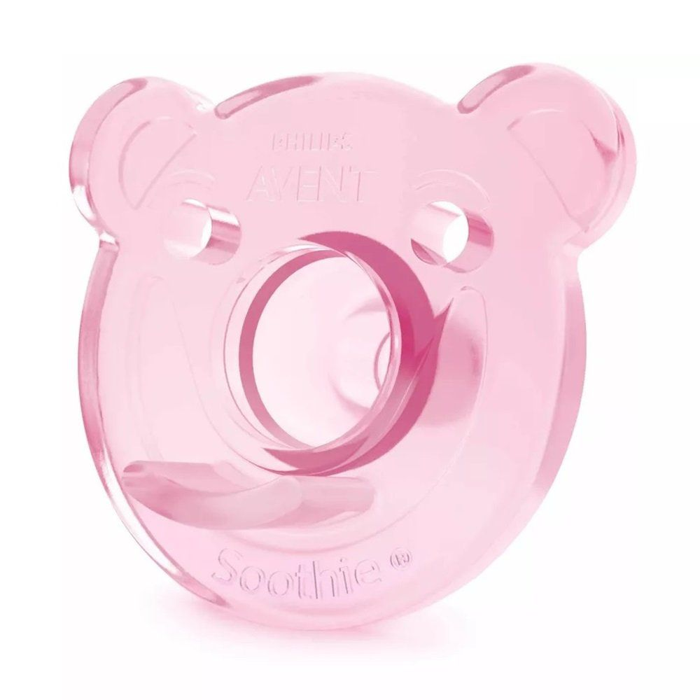 Kit Chupetas 2 Peças Philips Avent Soothie 0 à 3 Meses N.1 Ursas Silicone Rosa e Lilás