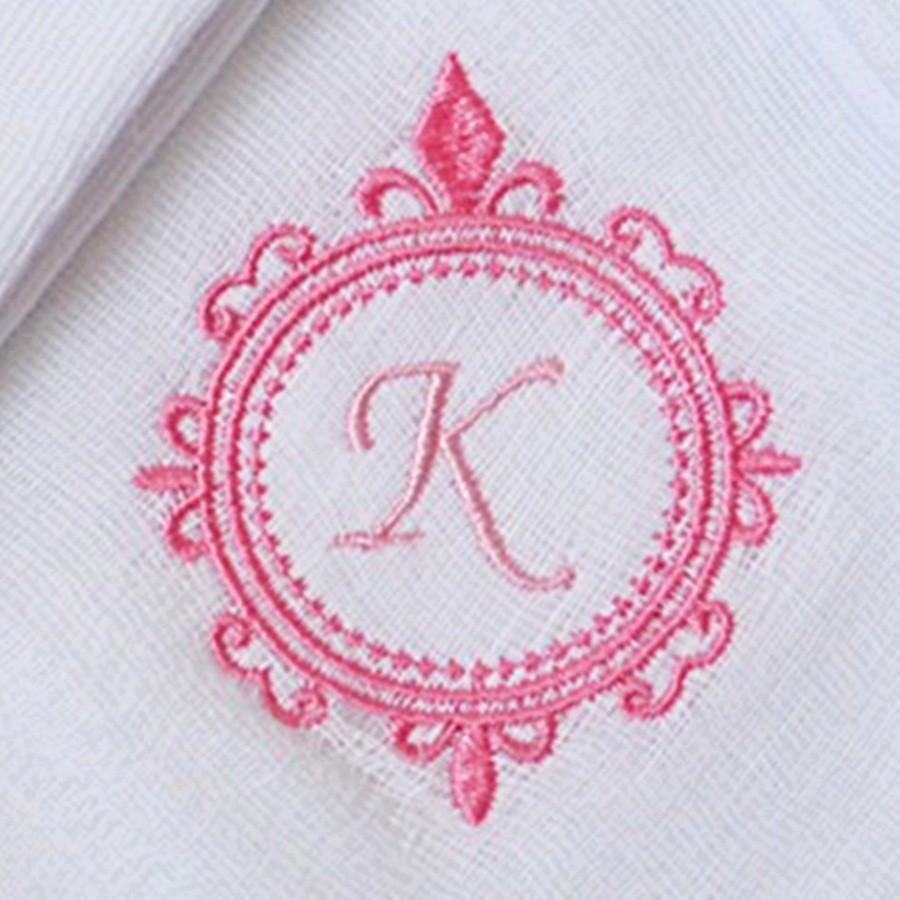 Kit Fraldas de Boca (Babete) 3 Peças Forrada Brasão Personalizada com Inicial e Nome