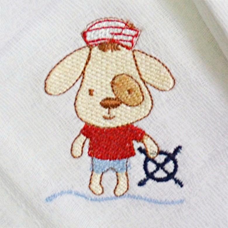 Kit Fraldas de Boca (Babete) 3 Peças Forrada Cachorro Pirata