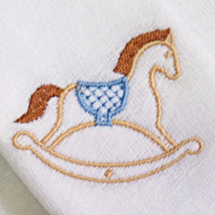 Kit Fraldas de Boca (Babete) 3 Peças Forrada Cavalo Coroa