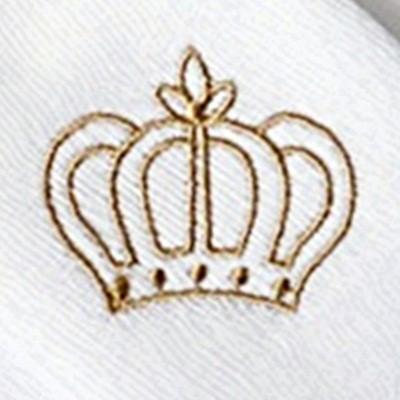 Kit Fraldas de Boca (Babete) 3 Peças Forrada Coroa Brasão
