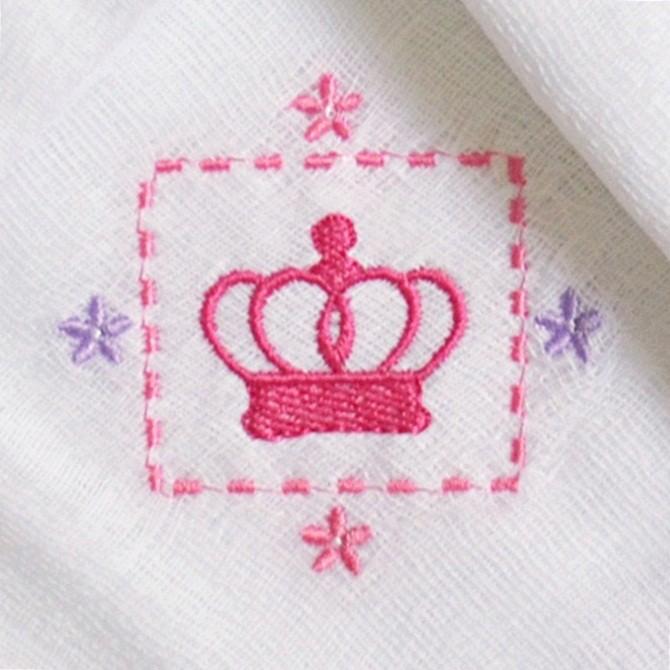 Kit Fraldas de Boca (Babete) 3 Peças Forrada Coroa Flores