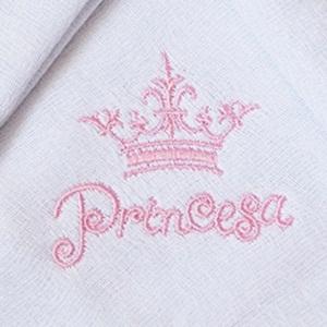 Kit Fraldas de Boca (Babete) 3 Peças Forrada Coroa Princesa