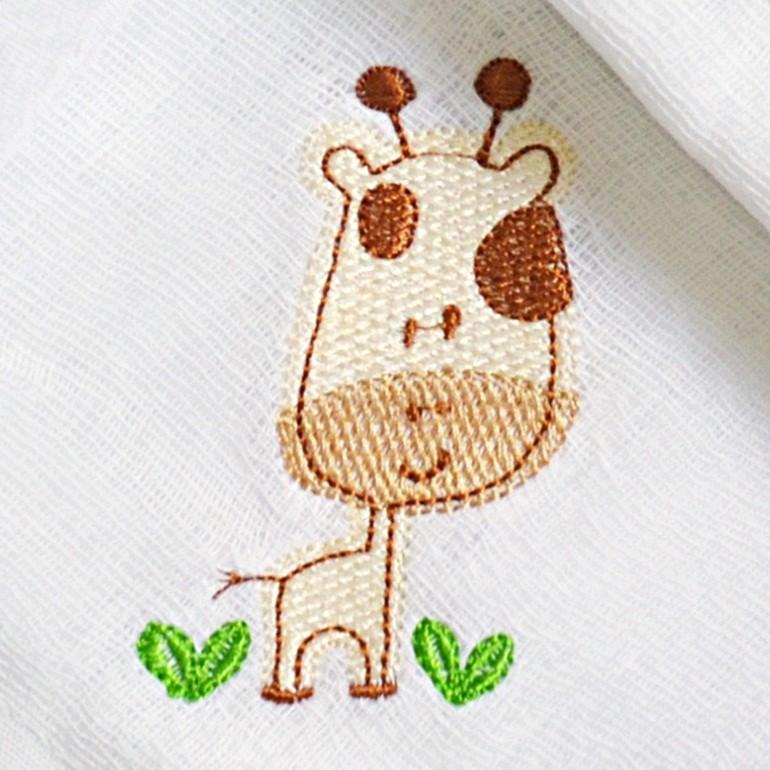 Kit Fraldas de Boca (Babete) 3 Peças Forrada Girafa Árvore