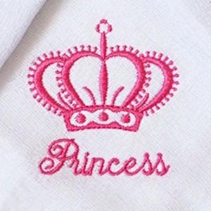 Kit Fraldas de Boca (Babete) 3 Peças Forrada Coroa Princess