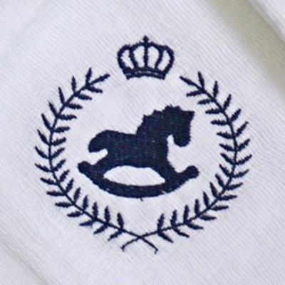 Kit Fraldas de Boca (Babete) 3 Peças Forrada Trigo Coroa Cavalos