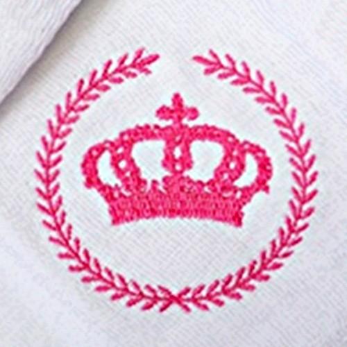 Kit Fraldas de Boca (Babete) 3 Peças Forrada Trigo Coroa Princesa