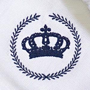 Kit Fraldas de Boca (Babete) 3 Peças Forrada Trigo Coroa Príncipe