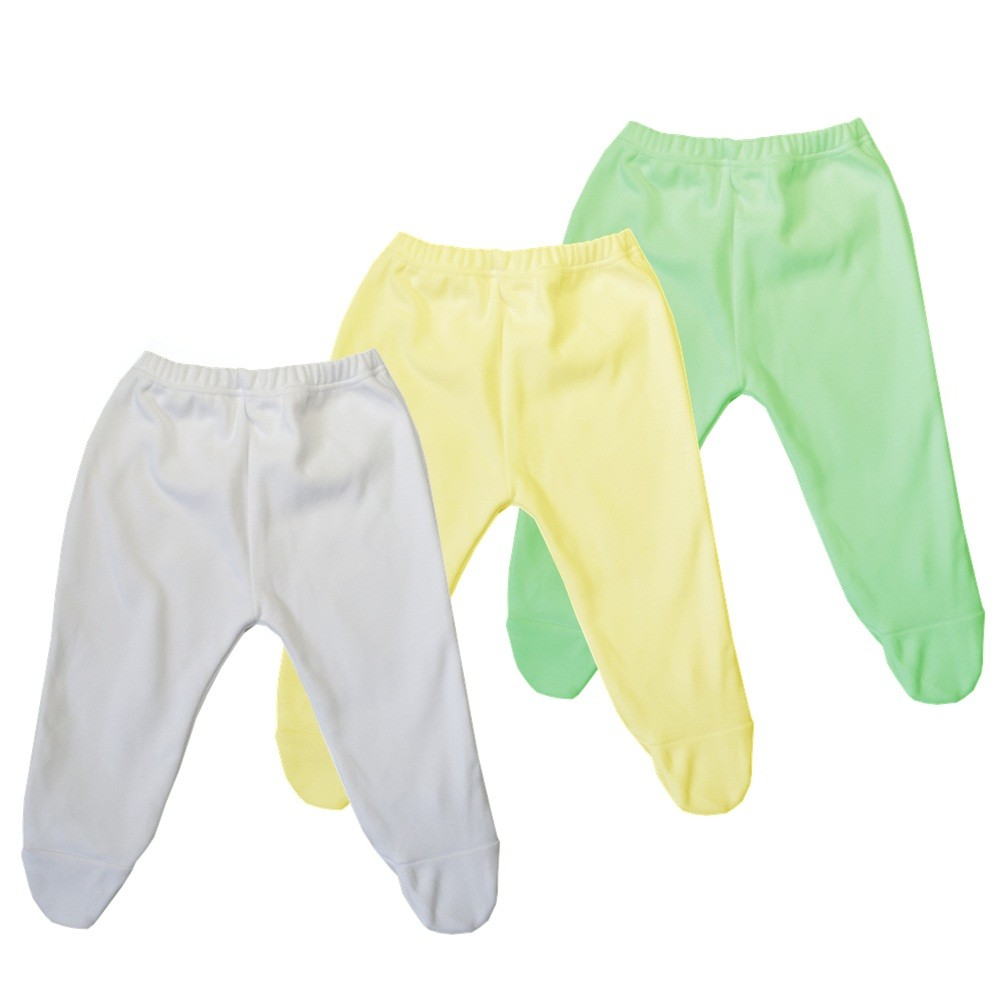 Kit 3 Peças Mijões Malha Suedine Amarelo, Branco e Verde