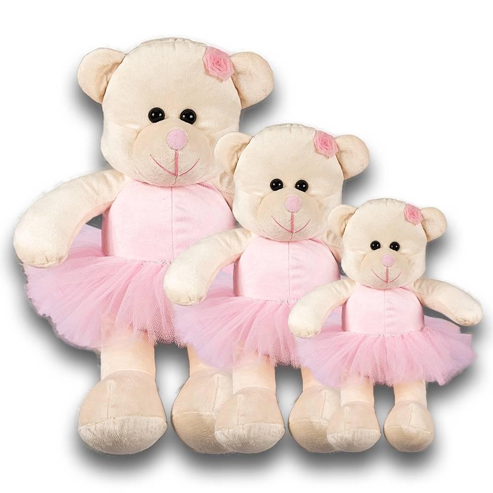 Shopping do Bebê Kit Ursas 3 Peças Soft Bailarina Rosa Ursos e28f4c29217e7