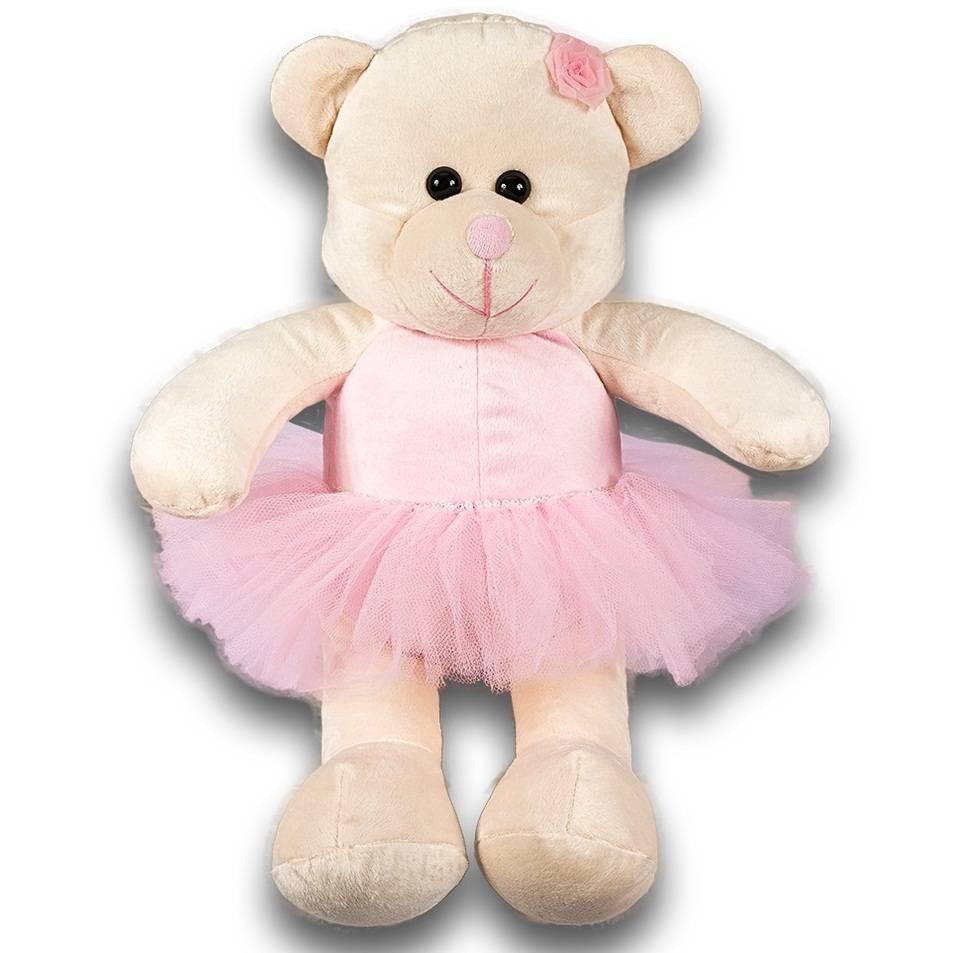 Kit Ursas 3 Peças Soft Bailarina Rosa