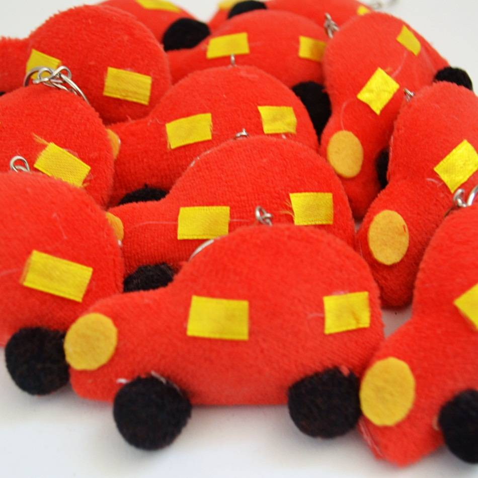 Lembranças Chaveiro 30 Unidades Feltro Vermelha Carro