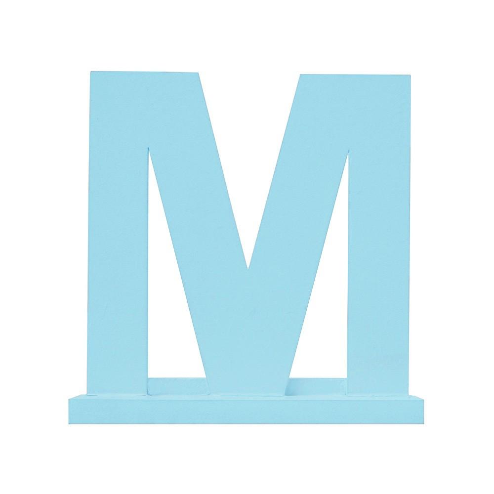 Letra Avulsa Azul Mdf - Escolha uma Letra do Alfabeto