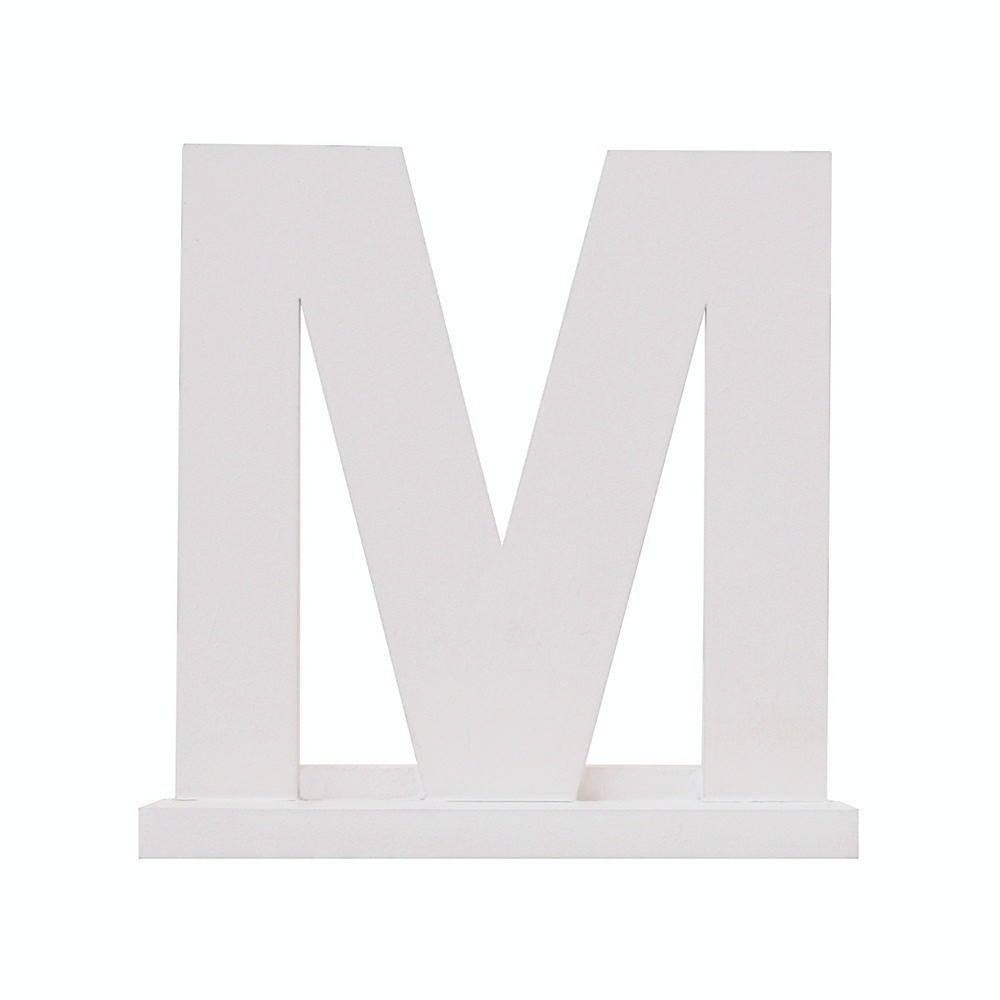 Letra Avulsa Branca Mdf - Escolha uma Letra do Alfabeto