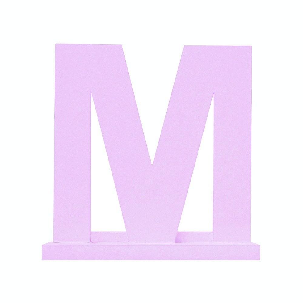 Letra Avulsa Lilás Mdf - Escolha uma Letra do Alfabeto