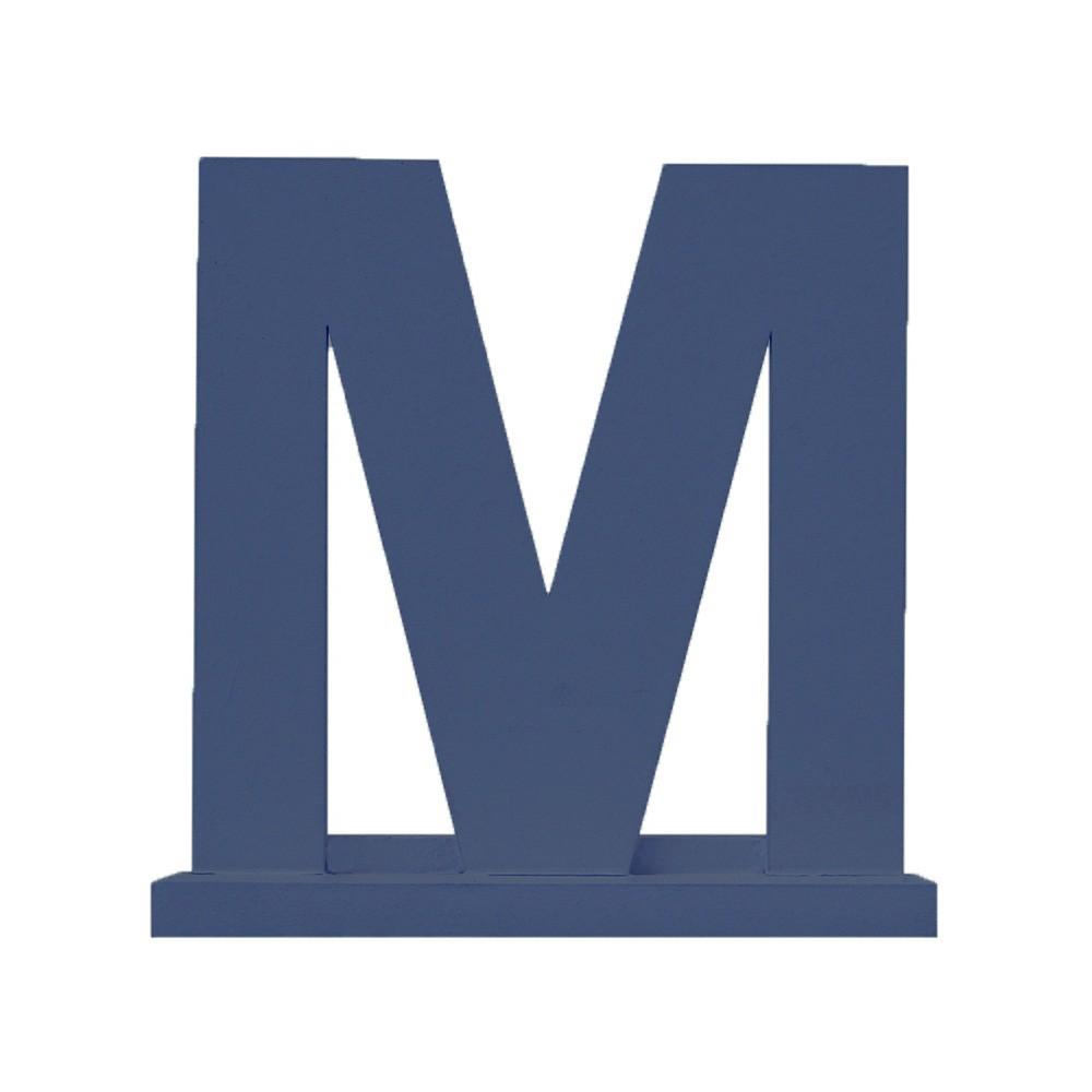 Letra Avulsa Marinho Mdf - Escolha uma Letra do Alfabeto
